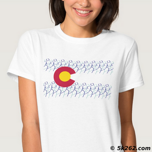 running shirt sample: Colorado flag