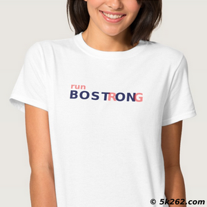 running shirt image: Run Boston strong!