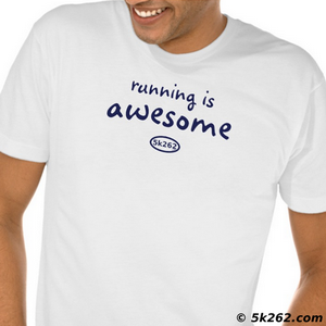 running shirt image: running is awesome