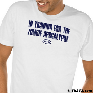 running shirt picture: In training for the zombie apocalypse