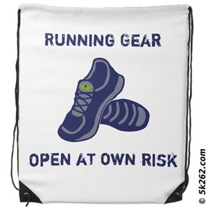funny running shirt image: Running gear - open at your own risk