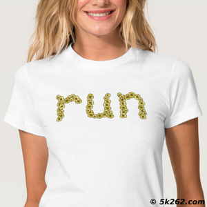 "running shirt image: Flowery ""run"""