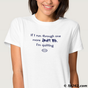 funny running shirt graphic: If I run through one more spider web, I'm quitting