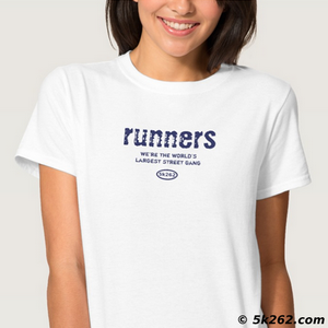 running shirt display: Runners - the world's largest street gang